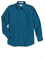 Nordstrom Smartcare(TM) Plaid Dress Shirt (Big Boys)