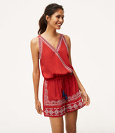 LOFT Embroidered Crossover Romper