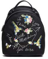 Love Moschino Embroidered Canvas Backpack
