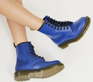 Dr. Martens 8 Eyelet Lace Up Boots Blue