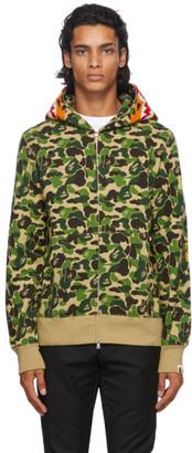 BAPE Green Camo ABC Tiger Full-Zip Hoodie