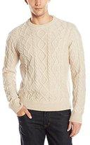 Original Penguin Men's Long Sleeve Wool Alpaca Fisherman Sweater