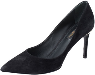 Louis Vuitton Black Suede Leather Pointed Toe Pump Size 38