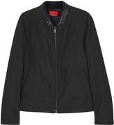 Hugo Balkin Faux Leather-trimmed Shell Jacket