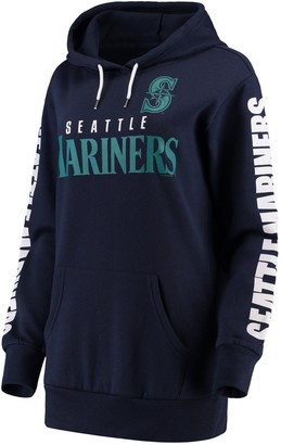 G Iii Women's G-III 4Her by Carl Banks Navy Seattle Mariners Extra Innings Pullover Hoodie