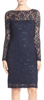 JS Collections Women's Illusion Lace Dress