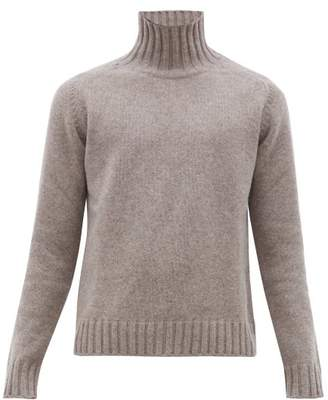 Studio Nicholson High Neck Marled Wool Sweater - Mens - Light Brown