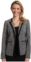 Calvin Klein Graphic Tweed Jacket (Black/Ivory Combo) - Apparel