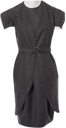 Saint Laurent Grey Wool Dress for Women