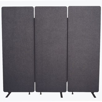 Luxor RECLAIM Acoustic Room Dividers - 3 Pack in Slate Gray- RCLM7266ZSG