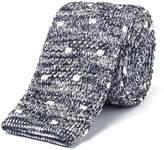 Gibson Grey Spot Melange Knit Tie