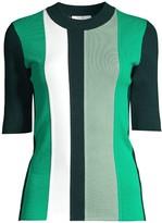 BOSS Faspen Colorblock Vertical Stripe Knit Top