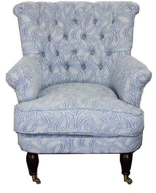 Moti Furniture Down Armchair Furniture Upholstery Color: Blue