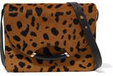 Charlotte Olympia Clift Leopard-Print Calf Hair Shoulder Bag