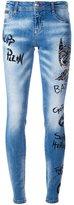 Philipp Plein 'Think Blue' skinny jeans