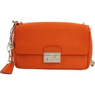 Prada Orange Leather Handbags