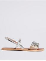 M&S Collection Embellished Back Strap Sandals