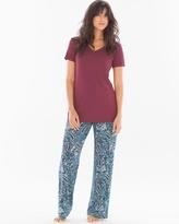 Soma Intimates Pajama Set Paisley Poise Marsala RG