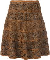 D-Exterior D.Exterior patterned flare skirt