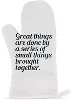 Fotomax Mitten with Great things are done by a series of small things brought together