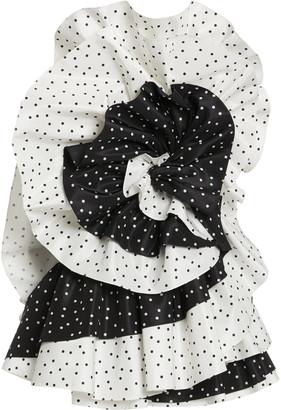Carolina Herrera Mini Floating Dot Print Silk Taffeta Mini Dress