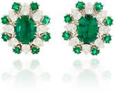 Paul Morelli Verde Oval Clip Earrings