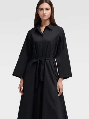 DKNY Belted Button-up Dress