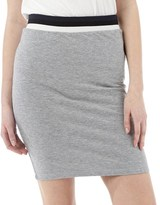 Jacqueline De Yong Womens Dusty Skirt Light Grey Melange