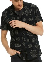 Scotch & Soda Paisley Print Regular Fit Button-Down Shirt
