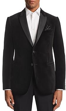 Giorgio Armani Emporio M-Line Contrast-Collar Velvet Tailored Fit Jacket