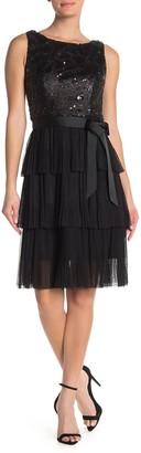 Marina Fit & Flare Tiered Dress