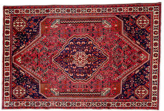 "One Kings Lane 6'4""x8'11"" Persian Shiraz Rug - Wine/Ivory"