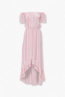 Forever 21 Striped Off-the-Shoulder Dress