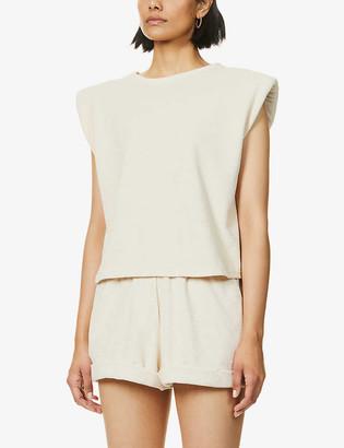 Prevu Delos padded shoulder cotton T-shirt