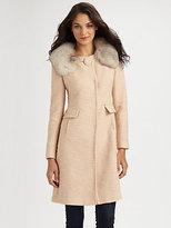Milly Katherine Fur Collar Coat