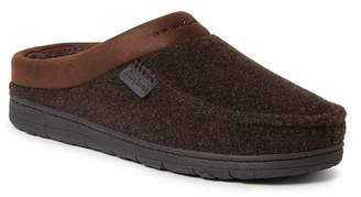 Dearfoams Felted Microwool Faux Shearling Lined Clog
