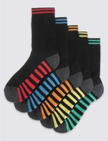 Marks and Spencer 5 Pairs of FreshfeetTM Sports Socks (3-16 Years)