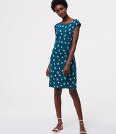 LOFT Tall Petaled Side Shirred Dress