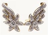 Tiffany & Co. Schlumberger Star 18k Gold Platinum Diamond Earrings