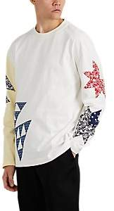 Calvin Klein Men's Patchwork-Quilt Cotton Jersey T-Shirt - White