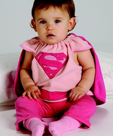 Rubie's Costume Co Pink Supergirl Deluxe Cape Bib - Kids
