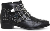 Office Lucky charm leather ankle boot