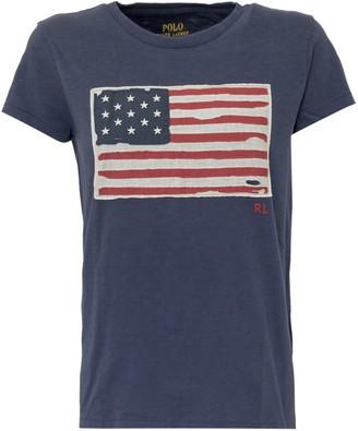 Polo Ralph Lauren American Flag Print T-Shirt
