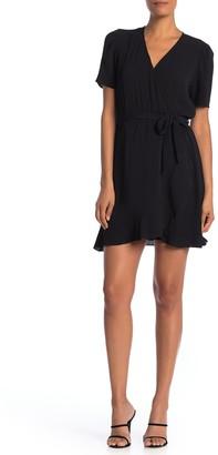 Como Vintage Short Sleeve Faux Wrap Dress