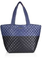 M Z Wallace Metro Medium Two-Tone Quilted Nylon Tote