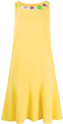 Boutique Moschino Flower Applique Dress