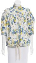 Roberto Cavalli Printed Suede Jacket w/ Tags