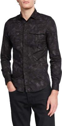 Valentino Men's Button-Down Pocket Shirt