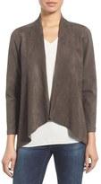 Karen Kane Women's Faux Suede Drape Front Jacket