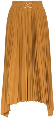 REJINA PYO Kiera pleated asymmetric midi skirt